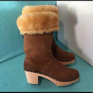 💖 Sandgrens Ugglebo Shearling Seattle Clog Boots